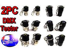 From OZ Quality 2PC DMX Tester Tool For Lighting Laser DJ Light Show Terminator
