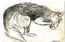 """PUMPKIN PLAYING"" by RUTH FREEMAN GRAPHITE/PENCIL 6 1/4 X 9 1/4"""