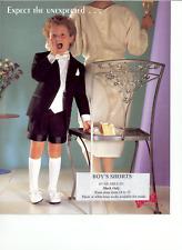 Boys Black Tuxedo Short Pants - Waist sizes 18 thru 24