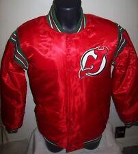 NEW JERSEY DEVILS STARTER Satin Jacket Original STARTER Traditional SMALL  RED
