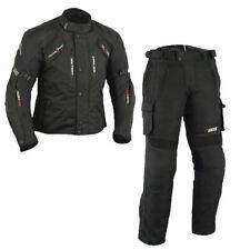 Sommer textile Motorradkombi ,Schwarze Motorrad jacke und hose Herren