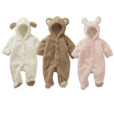 NUEVO de Bebé Niño Niña Moderno Pelele con capucha mono trajes ropa adecuada
