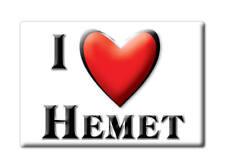 SOUVENIR USA - CALIFORNIA FRIDGE MAGNET I LOVE HEMET (RIVERSIDE COUNTY)