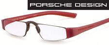 Porsche Design P 8801 B Rot/schwarz +1,0 bis +4,0 Lesebrille Computerbrille