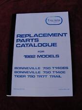 1982 TRIUMPH T140E T140ES TR7T REPUESTO MANUAL DE PIEZAS/catálogo valioso