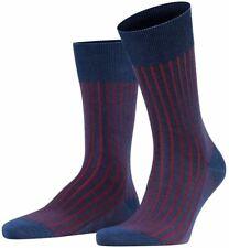 Falke Mens Shadow Socks - Denim Blue/Red