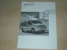 34061) Opel Vivaro Life Preise & Extras Prospekt 2003
