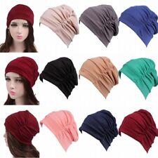 Women Beanie Bonnet Turban Muslim Plain Head Wrap Scarf Hijab Girl Hat Chemo Cap