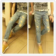 NEU Hot Herren Stilvolle Mode Designer Slim Fit Jeans Hose Pants 0408