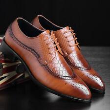 Fashion Men Dress Shoes Formal Oxfords Business Casual Shoes Large Size