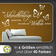 waf0967 - Wer Schmetterlinge lachen hört … Wandtattoo KIWISTAR - Aufkleber