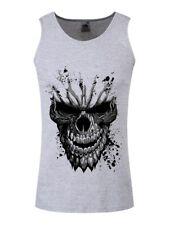 Carved Skull Men's Grey Vest