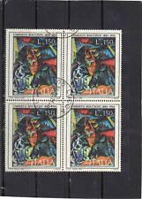 P340 - ITALIA 1976 - QUARTINA ARTE BOCCIONI - USATA