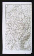 1859 Duvotenay Map France Paris Alps Belgium Napoleon