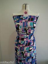 """Geometric Print Georgette Fabric 58"""" wide per Metre M145-16 Dress Material Mtex"""