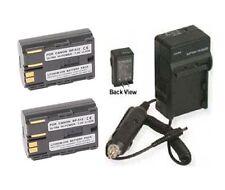Two 2 Battery + Charger for Canon BP-508 BP-511 BP-512 BP-514 BP508 BP511 BP512