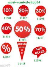 Ankleber  mit Aufdruck 10 - 70%  ca. 32 cm Ø Preisschilder Kundenstopper Plakat