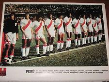 # POSTER PERU' 1978 PRE-WORLD CUP COPPA DEL MONDO CALCIO 22X30 FOTO