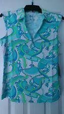 NWT Ladies IBKUL ICIKULS Karin Seafoam Sleeveless Golf Shirt M L XL  UPF 50