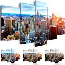 WANDBILDER XXL NEW YORK LEINWANDBILD BILD SKYLINE WOHNZIMMER STADT d-B-0189-b-n