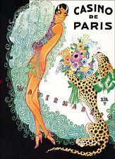 Josephine Baker Casino De Paris Vintage Poster Print Theater Art
