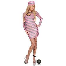 Contouring and Convict Costume Women's Prisoner Jga Prisoner Pink-Black