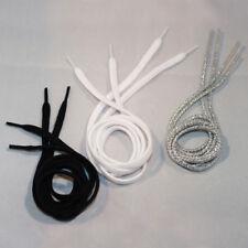 Paire de robinet Lacets de Chaussures en Noir, Blanc & Argent. JAZZ Lacets Disponible