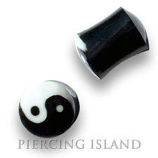 4mm - 16mm cuerno Bone ying yang bollos túnel cuerno ear Plug oreja piercing 051