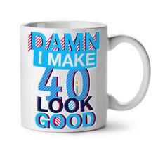 40 anni Compleanno Nuova Tazza da Caffè Tè Bianco 11 OZ | wellcoda