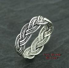 Ring Keltisch Zopf Celtic Silberring Gothic Silber 925 Sondergrößen Übergrößen