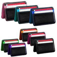 Mini Neutral Magic Bifold Leather Wallet Card Holder Money Clip Wallet Purse