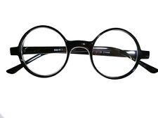 Round Black Plastic Reading Glasses Cheaters Specs Spex