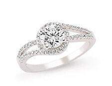 placcato platino argento zirconi solitario GRAPPOLO staccabile LATO anello