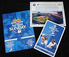 2012 MLB All Star Game Futures/Legends, Home Run Derby, ASG Pre-Game Shirt Card