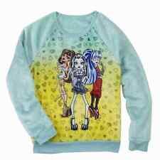 Monster High Girls Minky Mint Green Frankie Stein Pullover Sweatshirt Shirt