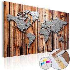 Kork Weltkarte Pinnwand Pinnbrett Memoboard Korktafel Holz-Rahmen k-A-0138-q-a