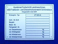 ZT 323-A Fortschritt ( Typenschild ) ANSEHEN LOHNT SICH