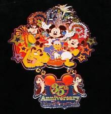 Disney 35 Magical Years  Boxed Jumbo Dangle Fab 5 Mickey Mouse Pin