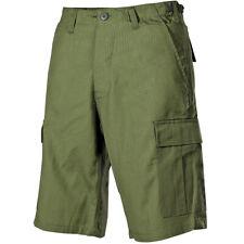 MFH Hombres Pantalón Cortos Bermudas US BDU Ejército Patrulla Ripstop OD Verde