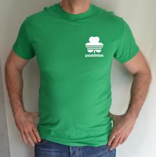 Paddidas, St Patrick's Day, piccolo logo sul petto, BIRRA, ADIDAS, Irish Green, divertente maglietta