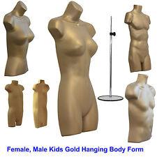 🔥Female Male Child Kids Gold Hanging Body Form Retail Torso Plastic Mannequin🔥