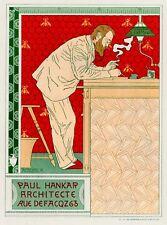 Vintage French Posters: Paul Hankar, Architect  - Les Maitre de l'Affiche - 1896