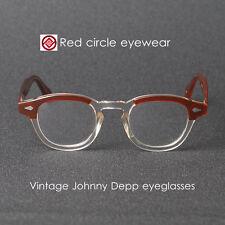 Retro vintage Johnny Depp eyeglasses S brown crystal frame clip on sunglasses