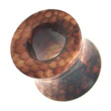 PAIR -  SNAKE SKIN ILLUSION PRINT EAR TUNNELS PLUGS ACRYLIC GAUGES (2g-1 Inch)