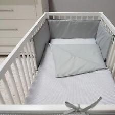 Baby-Joy Nestchen für Babybetten ZICK ZACK Linie 100% Baumwolle