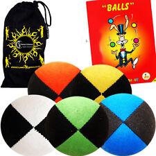 X 5 Pro Thud Balles De Jonglage - luxe (DAIM) Set 5 +Livre Du Tours + Sac