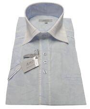Chemisette AJJ777 Enzo Nucci bleu taille 39 40 M HOMME chemise été slim fit NEUF