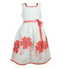Nuevo Algodón Chica Verano Vestido de fiesta en color rosa intenso, lila ,