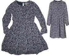 ♥NEU♥ Schickes Kleid mit langem Arm in Blau von ~ CREAMIE~ IRENE Dress Gr.Wahl