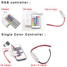 12V wire RF IR Box Remote Controller mini 24 44 3 Keys for RGB LED Light Strip